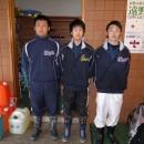 遠野市出身の3選手(左から菊池・栃木・佐々木)