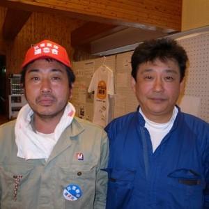 藤田信次さん(右)と同僚の大河原明さん