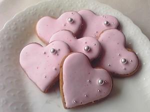 「まごころ」をイメージしてつくったハートのクッキー
