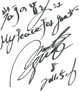 大黒摩季さんのサイン