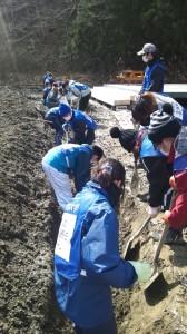 排水溝工事