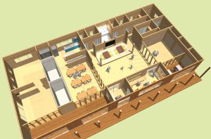 まごころ助けあいセンターの建設予定図です