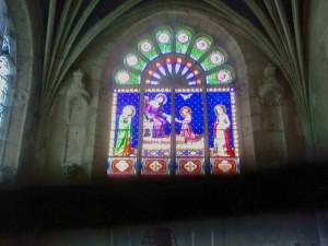 8/31に通過したNanturの教会のステンドグラス
