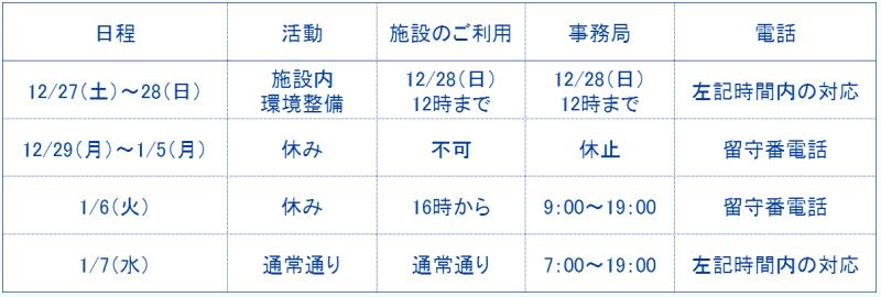 冬季休暇2014